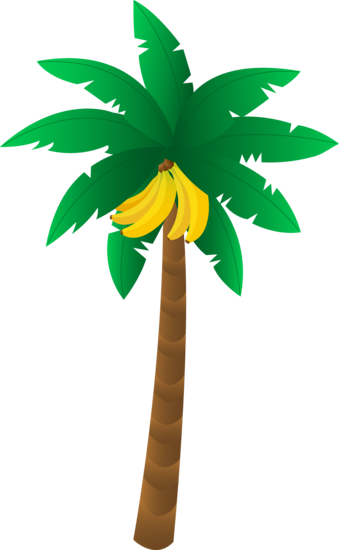 339x550 Tropical Banana Tree Diorama Bananas, Clip Art