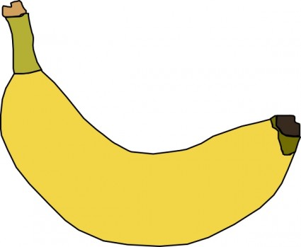 425x349 Banana Clip Art Free Vector In Open Office Drawing Svg Svg 2