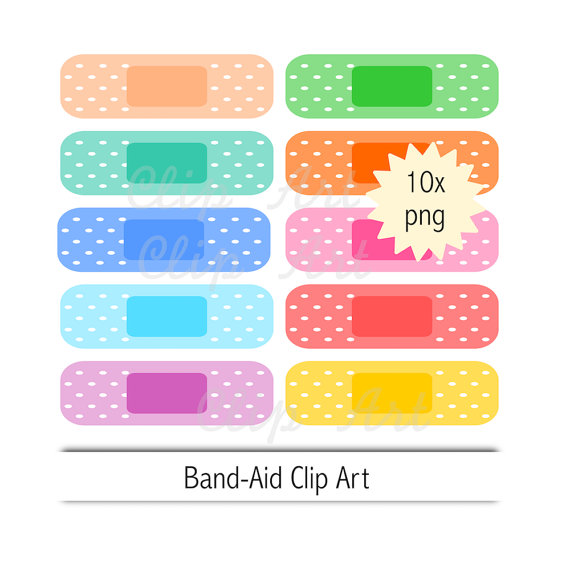 570x570 Band Aid Clip Art Instant Download Plaster Clipart