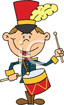 215x350 Cute Cartoon Of A Drum Major In A Marching Band