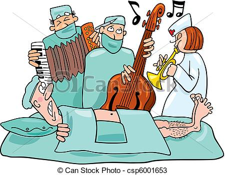 450x351 Humorous Illustration Of Crazy Surgeons Operation Band Vectors