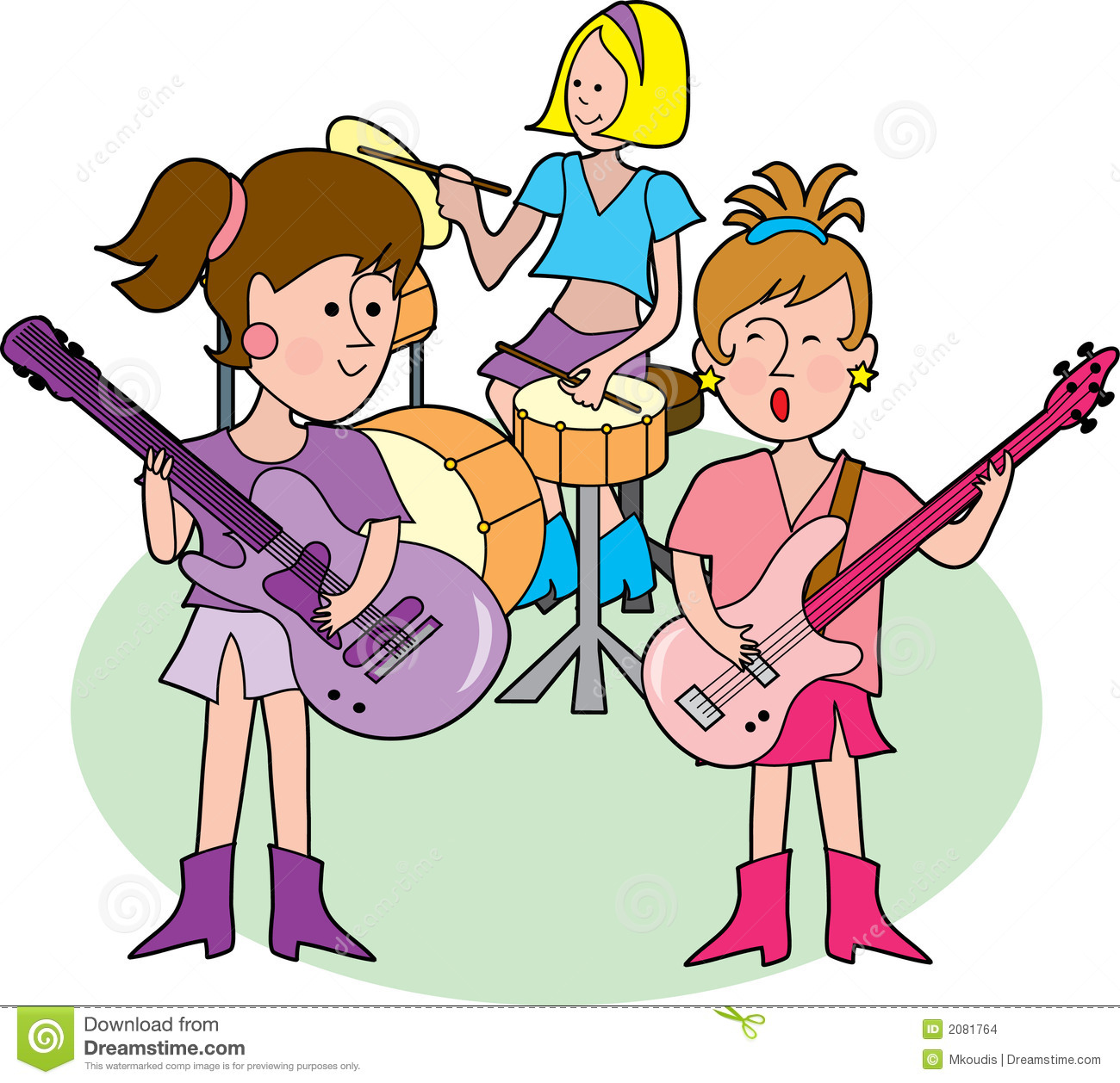 1300x1258 Kids Rock Band Clipart