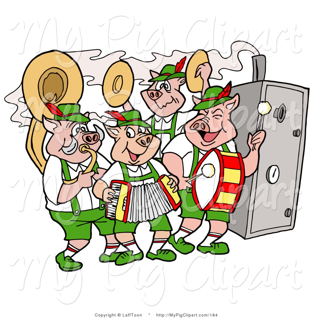 1024x1044 Swine Clipart Of A Group Of Pig Oktoberfest Band Playing