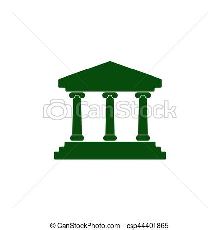450x470 Bank Vector Icon. Bank Building Vector Icon Clip Art Vector