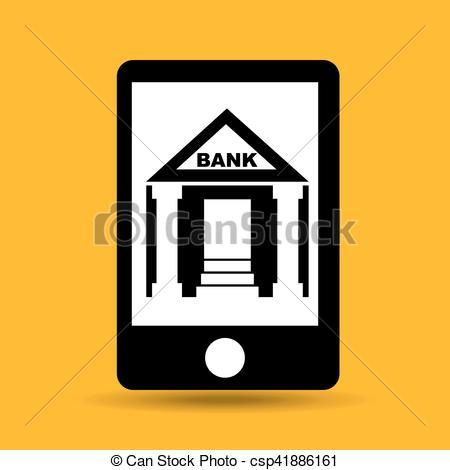 450x470 Concept Saving Money Bank Building Vector Illustration Eps Clip
