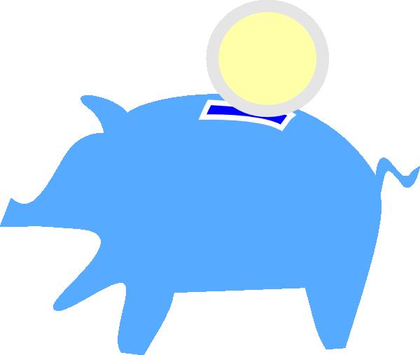 600x507 Piggy Bank Eating Clip Art