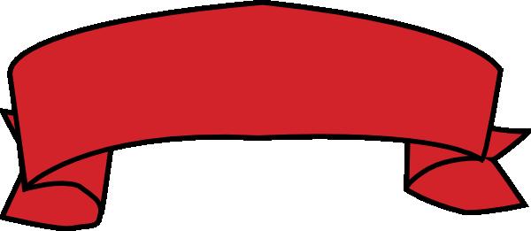 600x261 Red Banner Clip Art