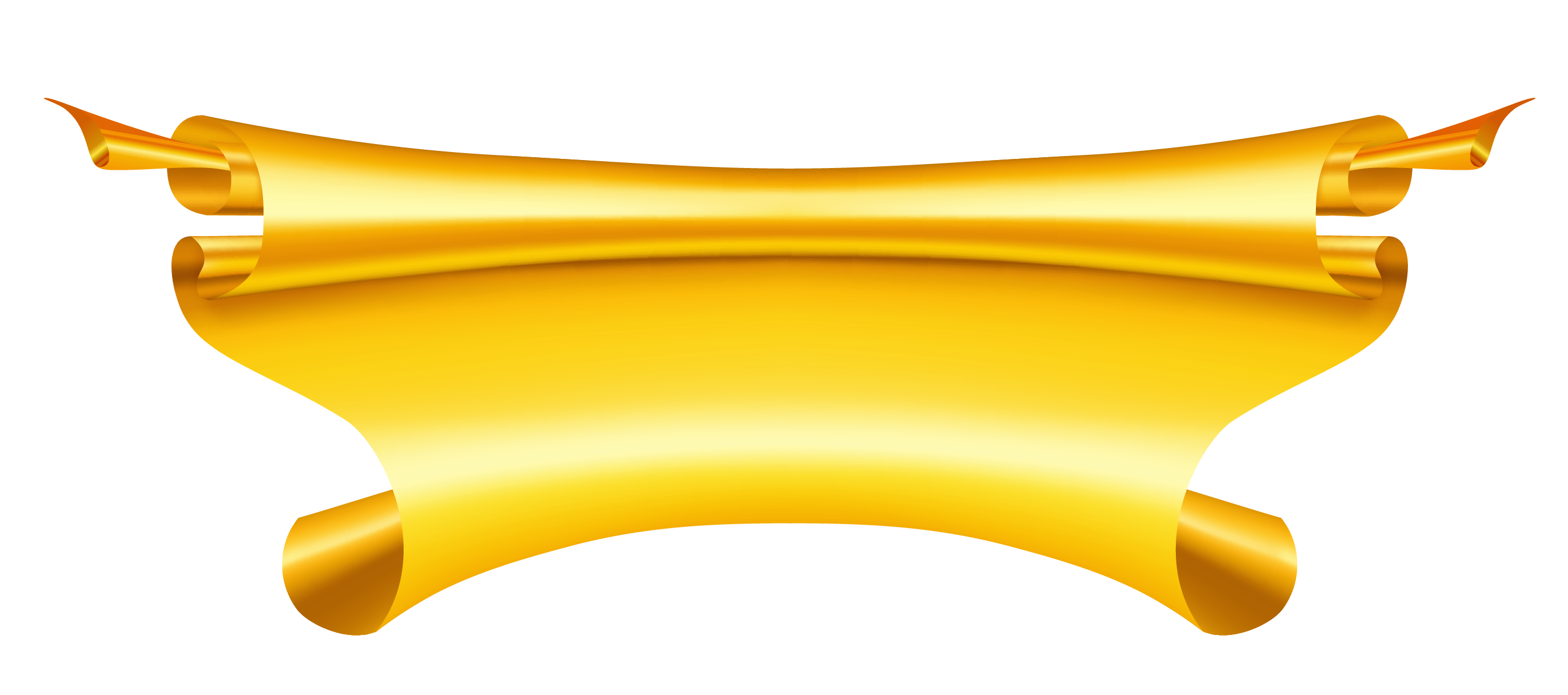2743x1216 Yellow Golden Ribbon Banner Clipart Places To Visit