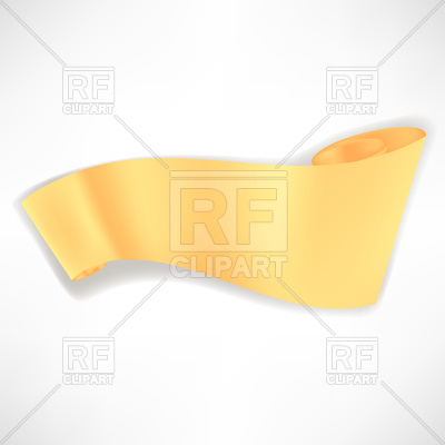 400x400 Yellow Paper Banner (Scroll) Royalty Free Vector Clip Art Image