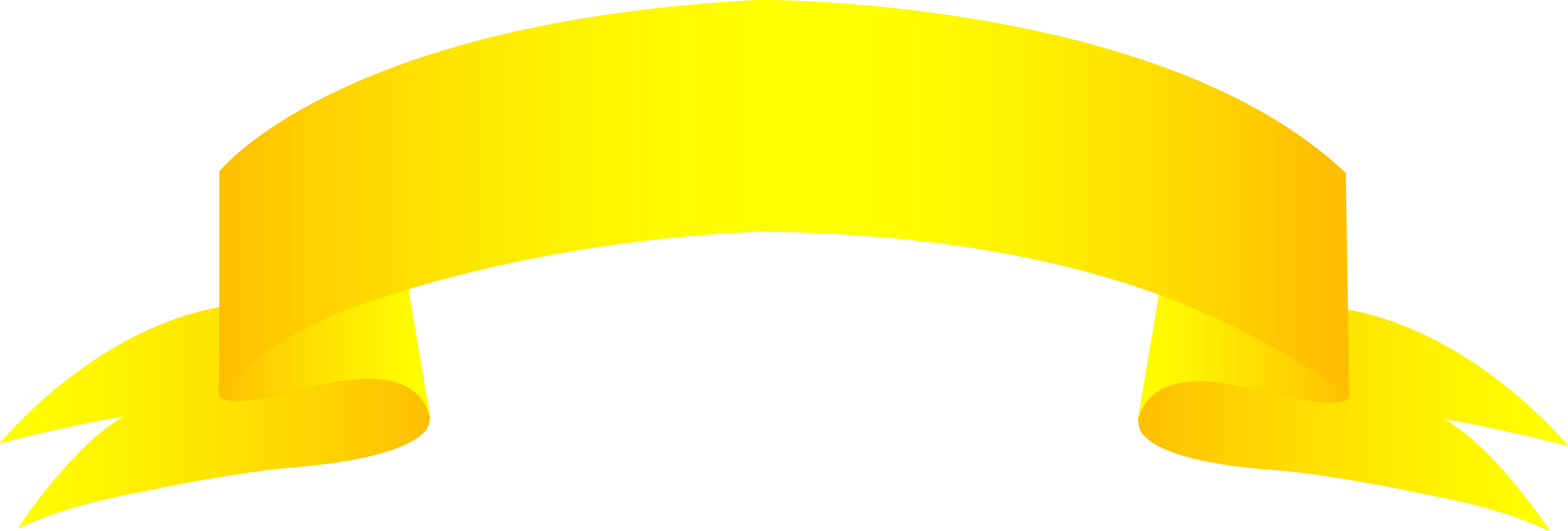 9356x3172 Banner Gold Clip Art