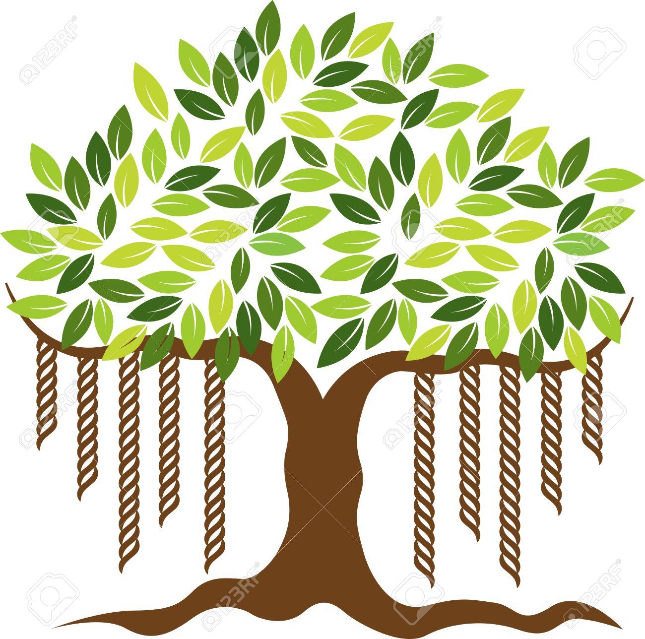 1300x1288 Clipart Of Banyan Tree