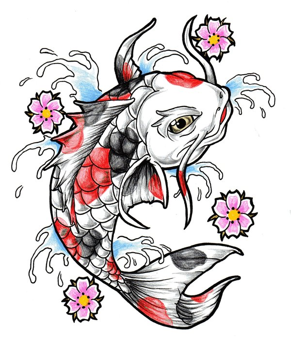 600x701 Drawn Koi Girly 3363822