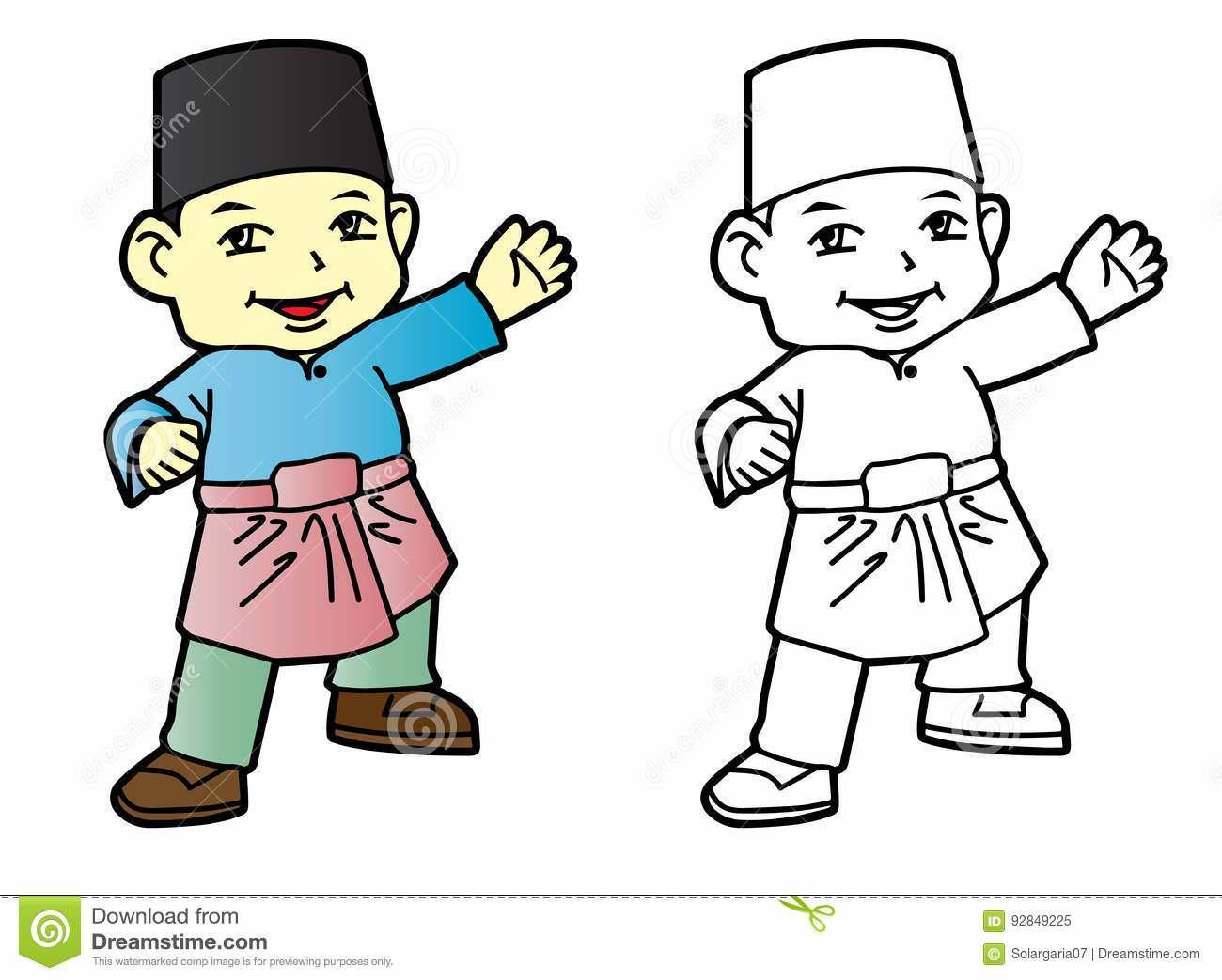 1300x1043 Baju Melayu Coloring Pages
