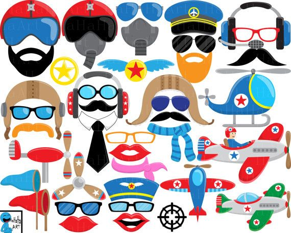 570x456 Plane And Pilot Props V2 Digital Clipart Clip Art By Hahahaart