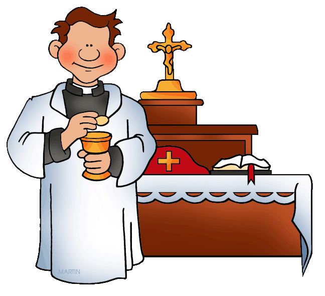 648x590 Priest Baptism Clip Art