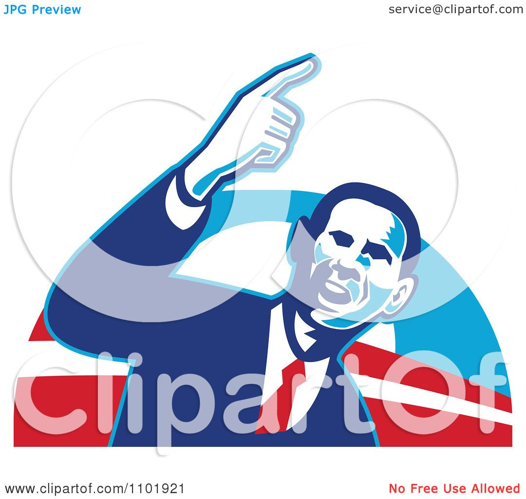 1080x1024 Clipart Barack Obama American President Over Red White And Blue
