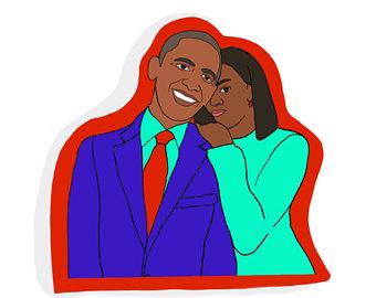 340x270 Michelle And Barack Obama Art Print Resist Resistance Art