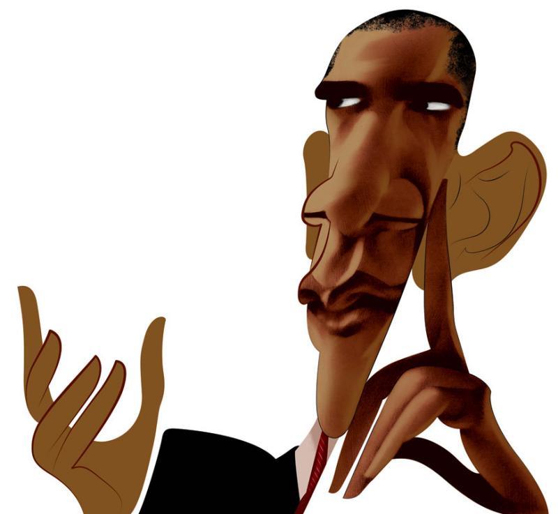 800x737 Barack Obama Cover Illustration For Standpoint Magazine.