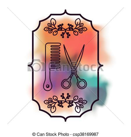 450x470 Barber Shop Design, Vector Illustration Eps10 Graphic Vector