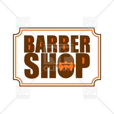 400x400 Barber Shop Icon. Emblem Of Hairdresser For Men. Royalty Free