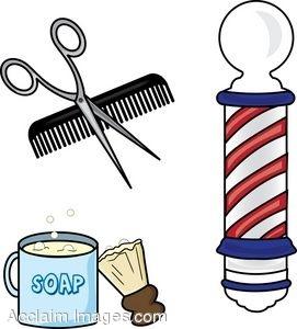271x300 Clip Art Of Barber Supplies Clipart