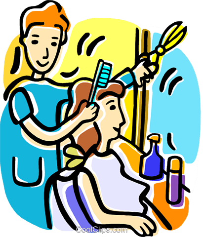 411x480 Hairdressers And Barbers Royalty Free Vector Clip Art Illustration