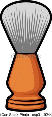 211x470 Shaving Brush (Barber Brush) Eps Vector