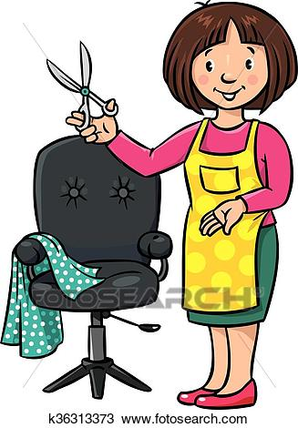 327x470 Barber Clip Art Clipart Of Funny Hairdresser Or Barber Profession
