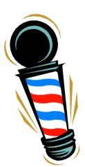 123x241 Barber Shop Clippers Clipart