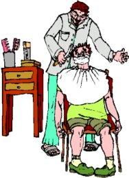 188x260 Barber Shop Pole Clipart