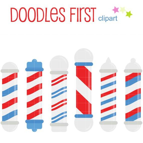 570x570 Barber Shop Poles Clip Art For Scrapbooking Card Making