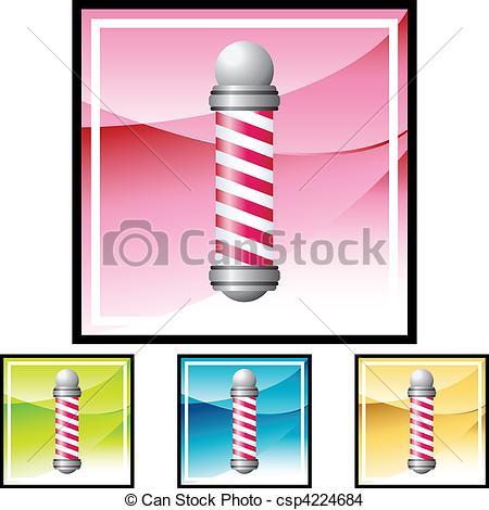 450x470 Barbershop Pole Eps Vector