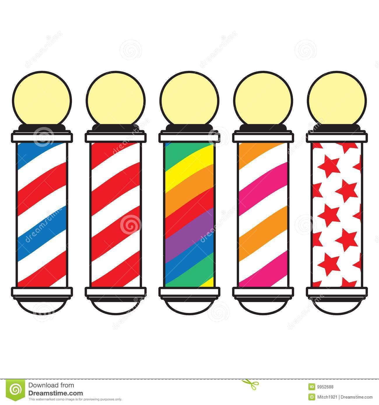 1300x1390 Barber Pole Clipart Collection
