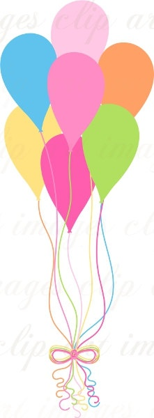 221x600 18 Best Balloon Clip Art Images On Happy Birthday