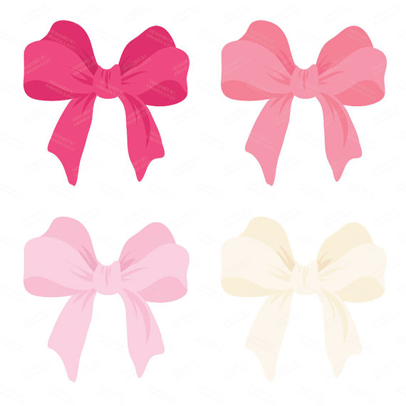 570x570 Pink Bow Clipart Large Pink Vector Bows Clipart Double Bow Clip