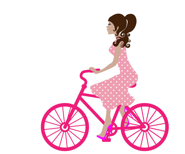 615x513 Girl On Bike Clipart Free Stock Photo