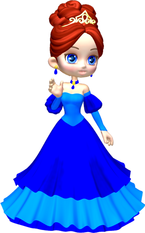 498x800 Princess In Blue Poser Png Clipart (12) By Clipartcotttage