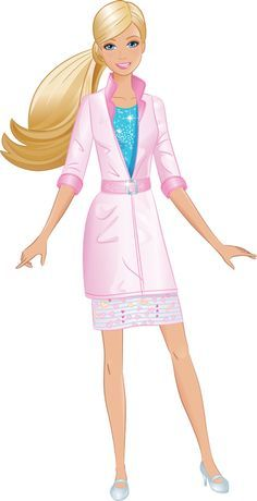 236x460 Barbie Doll Clip Art
