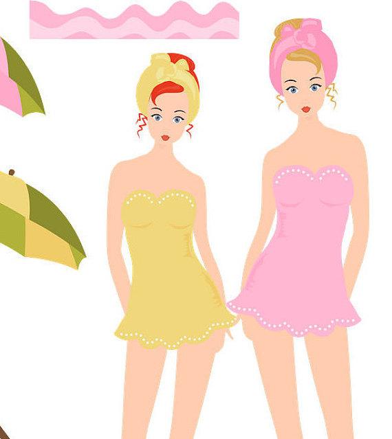 570x639 Girl Clipart, Swim Clipart, Beach Clipart, Seaside Clipart