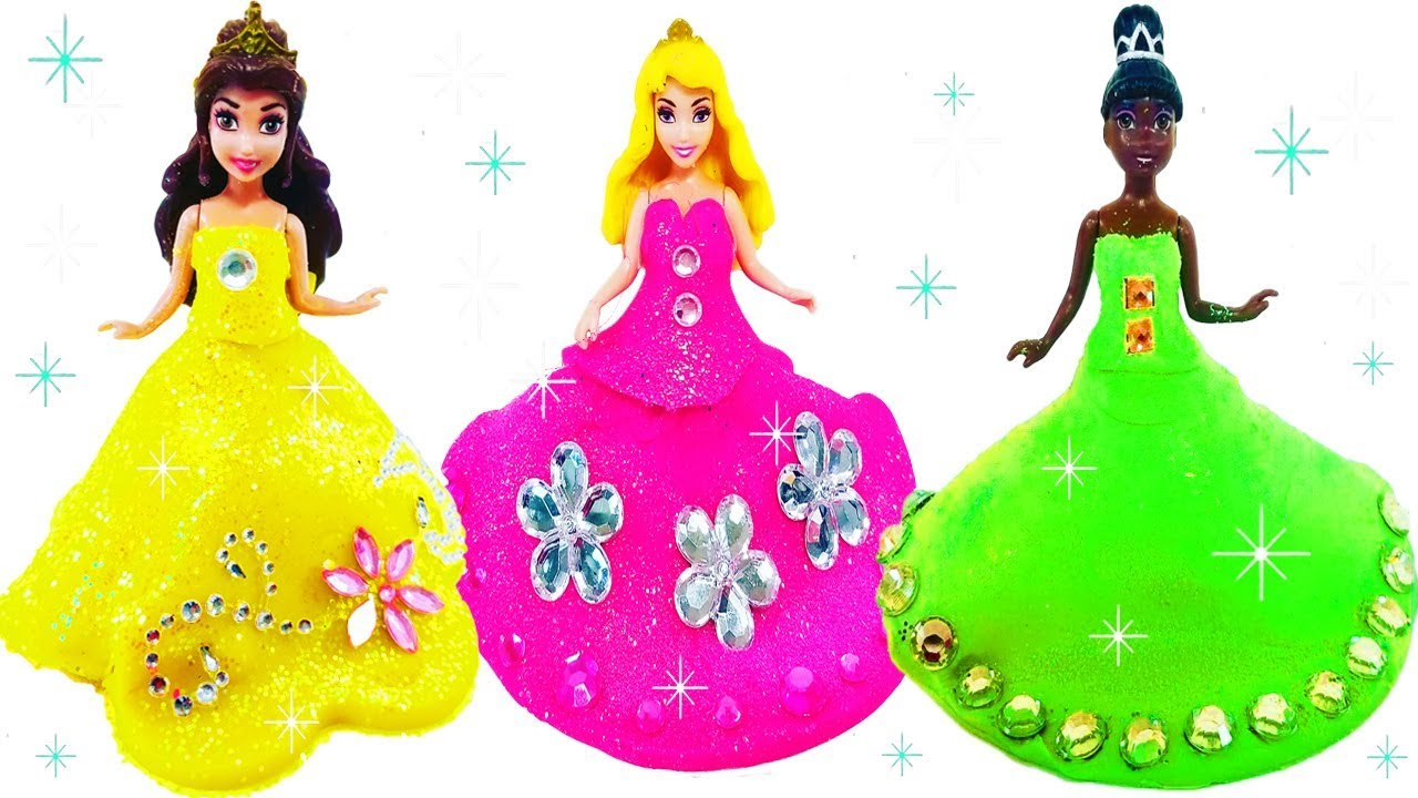 1280x720 Learn Colors Play Doh Making Colorful Sparkle Barbie Disney