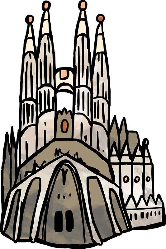 533x800 Barcelona Sagrada Familia Sticker' Sticker By Aterkaderk Sagrada
