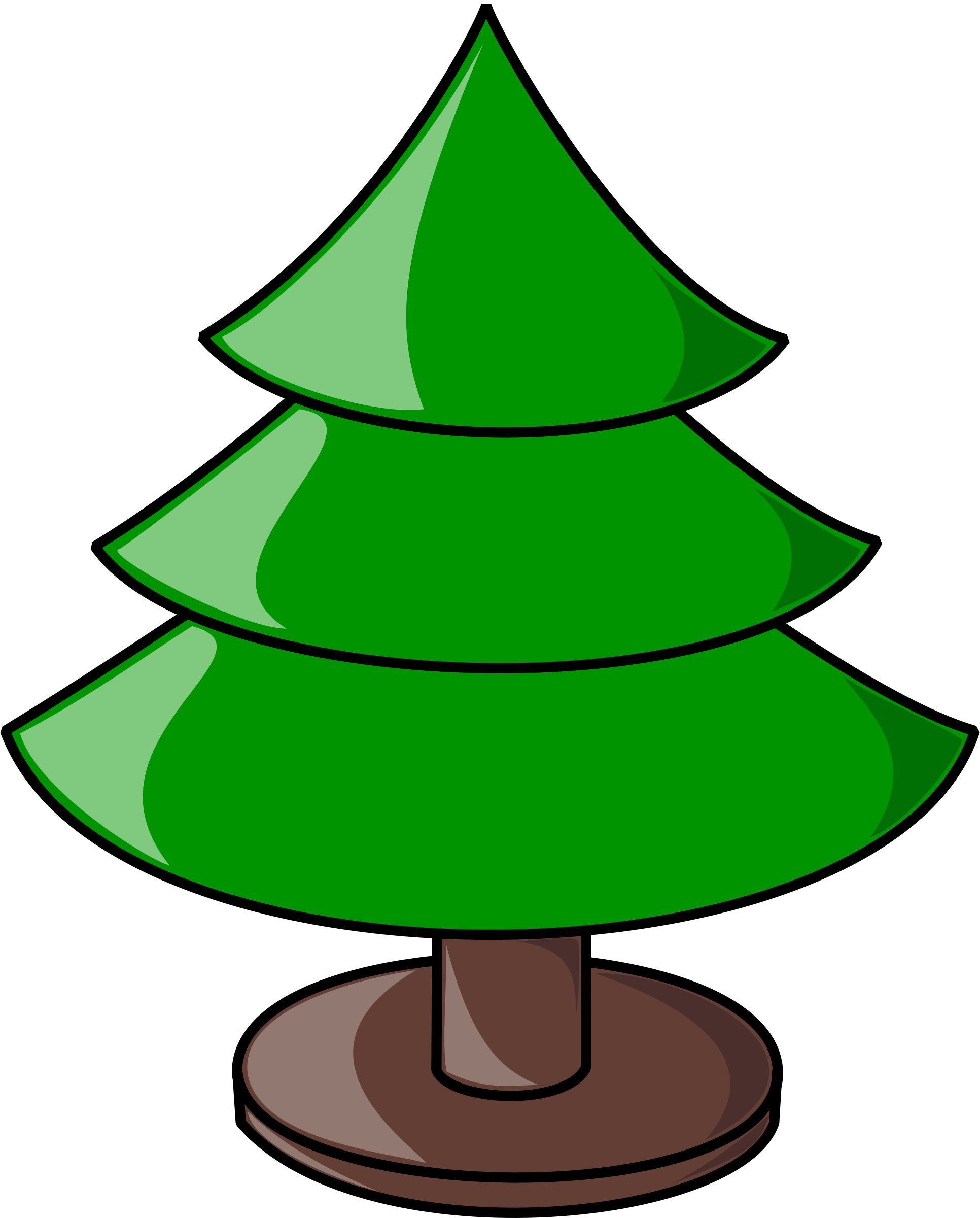 1932x2400 Elkbuntu Glossy Christmas Tree Clip Art At Clker Com Vector Plain