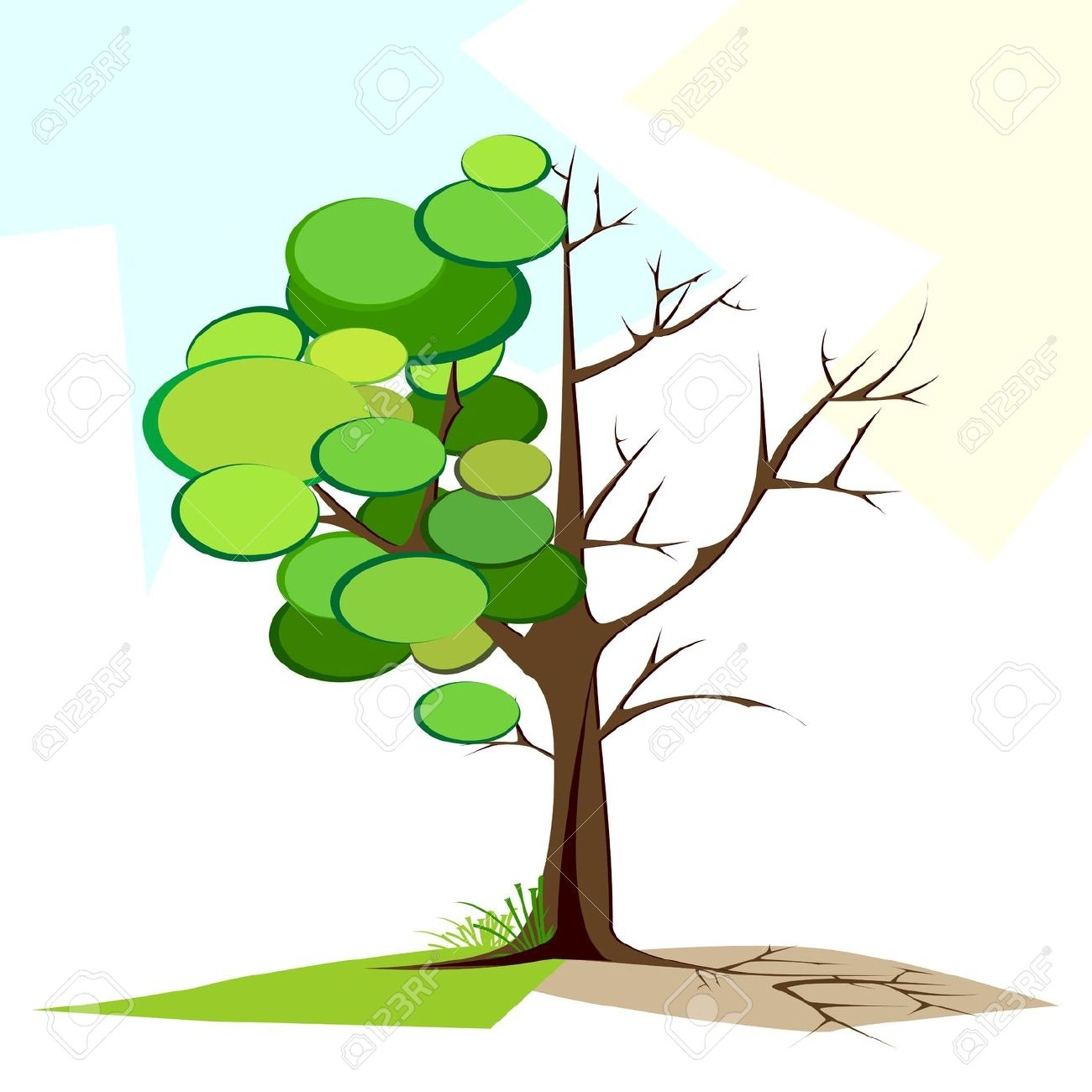 1300x1300 Half Bare Tree Clipart