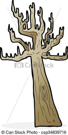 238x470 Old Bare Tree Cartoon Vector Clip Art