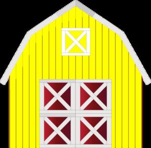 300x294 Yellow Barn Clip Art