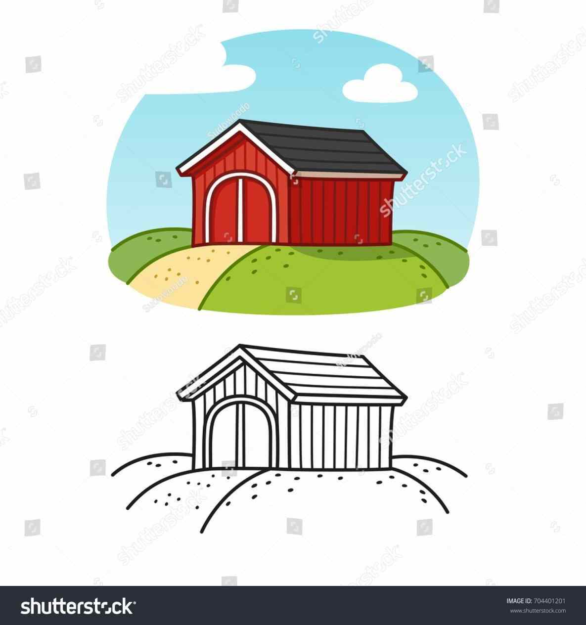 1185x1264 Clipart Free Clip Art Little Barn Drawing Colored Red Clipart Free