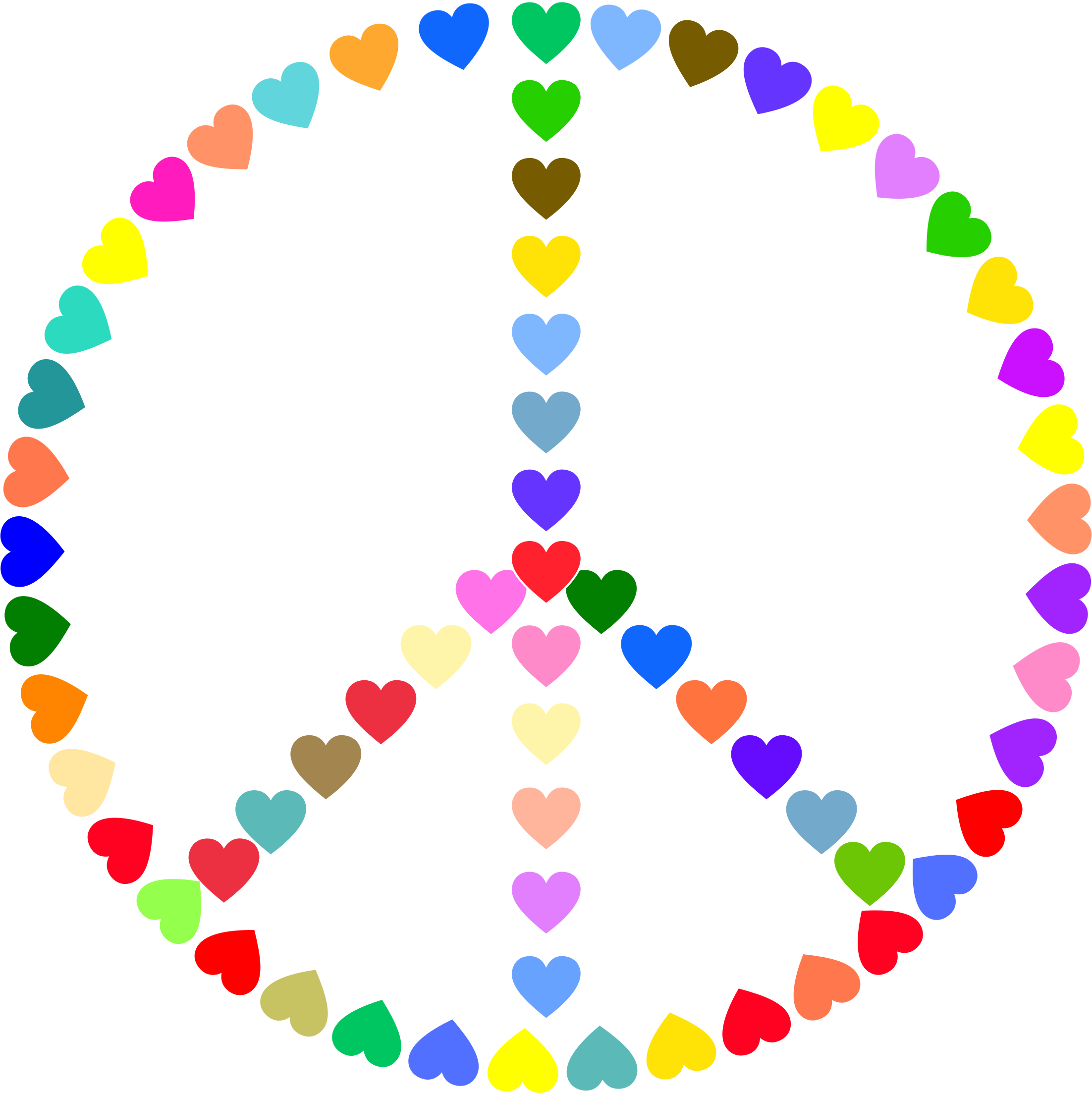 2204x2206 Peace Sign Clip Art