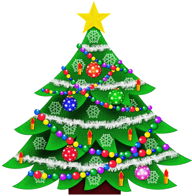 670x684 Christmas Tree Clip Art Free Clipart Images Clipartbarn Holiday
