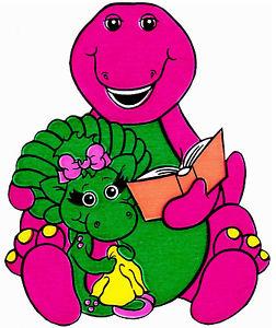 252x300 6 9.5 Barney Dinosaur Baby Bop Wall Sticker Glossy Border