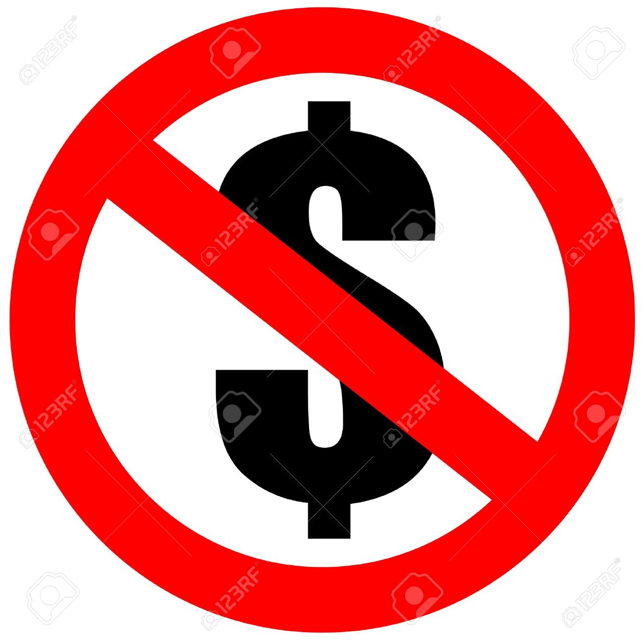 1300x1300 No Money Clipart